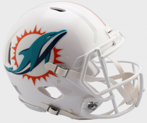 Riddell NFL Miami Dolphins 2018 Authentic Speed Full Size Football Helmet