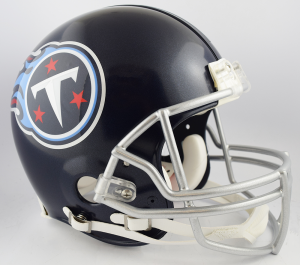Riddell NFL Tennessee Titans 2018 Satin Navy Metallic Authentic Vsr4 Full Size Football Helmet