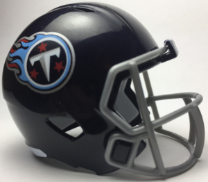 Riddell NFL Tennessee Titans 2018 Satin Navy Metallic Speed Pocket Size Football Helmet
