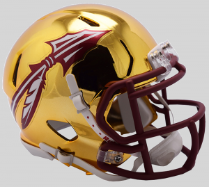 Riddell NCAA Florida St Seminoles 2018 Chrome Speed Mini Football Helmet
