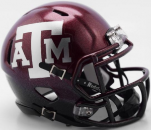Riddell NCAA Texas A&M Aggies 2018 Two Tone Speed Mini Football Helmet