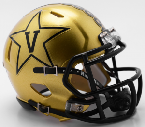 Riddell NCAA Vanderbilt Commodores 2018 Gold Speed Mini Football Helmet