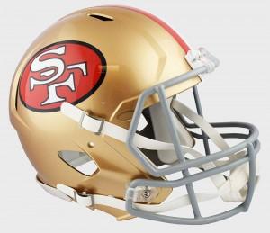 San Francisco 49ers Authentic Revolution Speed Full Size Helmet