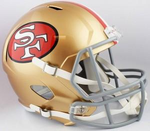 Riddell NFL San Francisco 49ers Revolution Speed Replica Full Size Helmet