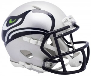 Seattle Seahawks Matte Navy 2019 AMP Riddell Mini Speed Helmet