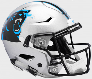 Riddell NFL Carolina Panthers Authentic SpeedFlex Full Size Football Helmet