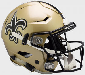 Riddell NFL New Orleans Saints Authentic SpeedFlex Full Size Football Helmet