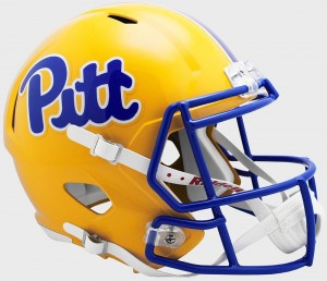 Riddell NCAA Pittsburgh Panthers Pitt Script Revolution Speed Replica Full Size Helmet