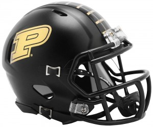 Purdue Boilermakers Matte Black Revolution Speed Mini Helmet NEW 2013