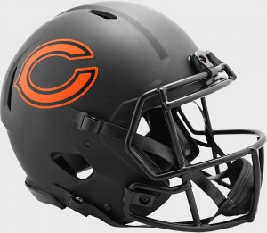 Chicago Bears 2020 Eclipse Riddell Full Size Authentic Speed Helmet