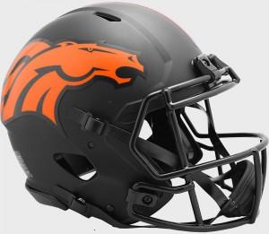 Denver Broncos 2020 Eclipse Riddell Full Size Authentic Speed Helmet