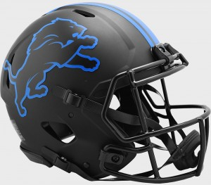 Detroit Lions 2020 Eclipse Riddell Full Size Authentic Speed Helmet