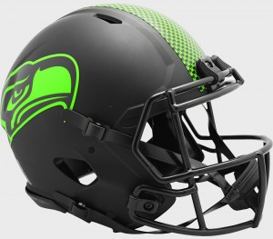 Seattle Seahawks 2020 Eclipse Riddell Full Size Authentic Speed Helmet