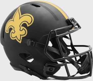 New Orleans Saints 2020 Eclipse Riddell Full Size Replica Speed Helmet