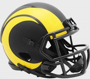 Los Angeles Rams 2020 Eclipse Riddell Mini Speed Helmet