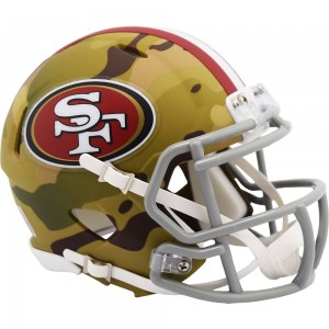 San Francisco 49ers 2020 Camo Riddell Full Size Authentic Speed Helmet
