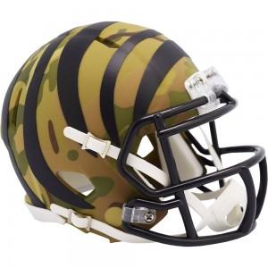 Cincinnati Bengals 2020 Camo Riddell Full Size Replica Speed Helmet