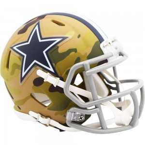 Dallas Cowboys 2020 Camo Riddell Full Size Authentic Speed Helmet