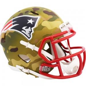New England Patriots 2020 Camo Riddell Full Size Authentic Speed Helmet