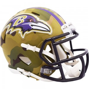 Baltimore Ravens 2020 Camo Riddell Mini Speed Helmet