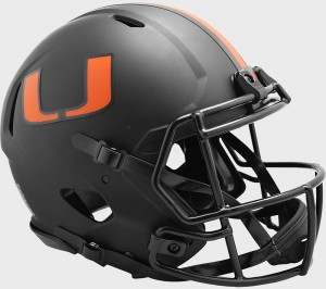 Miami Hurricanes 2020 Eclipse Riddell Full Size Authentic Speed Helmet