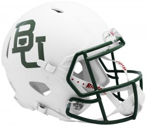 Baylor Bears Matte Green Authentic Revolution Speed Full Size Helmet