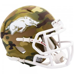 Arkansas Razorbacks 2020 Camo Riddell Mini Speed Helmet