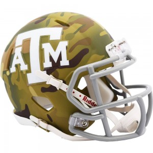 Texas A&M Aggies 2020 Camo Riddell Mini Speed Helmet