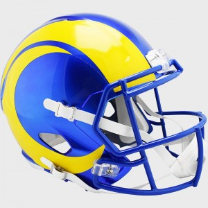 Los Angeles Rams New 2020 Riddell Full Size Replica Speed Helmet