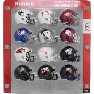 Riddell NCAA Big 12 2018 12pc Speed Pocket Size Football Helmet Set