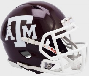 Texas A&M Aggies 2020 White Facemask Riddell Full Size Replica Speed Helmet