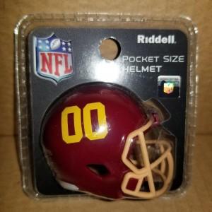 Limited Edition Washington Football Team 2020 Riddell Pocket Pro Speed Helmet Double Zero Logo