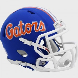 Florida Gators Flat Blue Script New 2021 Riddell Mini Speed Helmet
