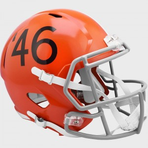 Limited Edition Cleveland Browns 1946 Throwback Riddell Full Size Replica Speed Helmet