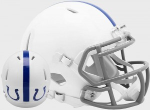 Limited Edition Indianapolis Colts 1956 Throwback Riddell Full Size Replica Speed Helmet