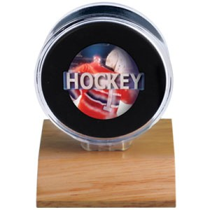 Light Wood Puck Holder