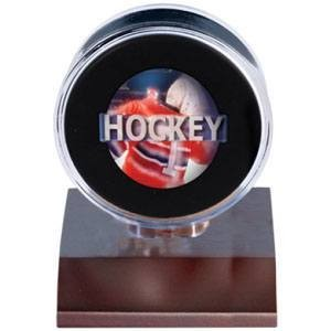 Dark Wood Puck Holder