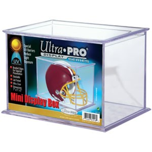 Ultra Pro UV Protected Rectangle Mini Football Helmet Holder
