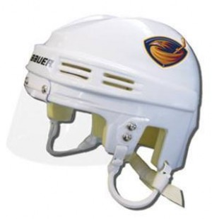 Atlanta Thrashers Away Authentic Mini Helmet