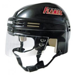 Calgary Flames Home Authentic Mini Helmet