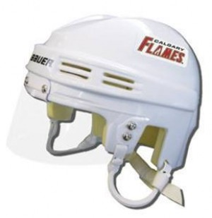 Calgary Flames Away Authentic Mini Helmet