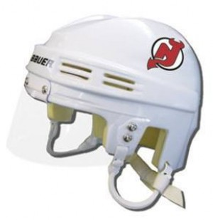 New Jersey Devils Away Authentic Mini Helmet