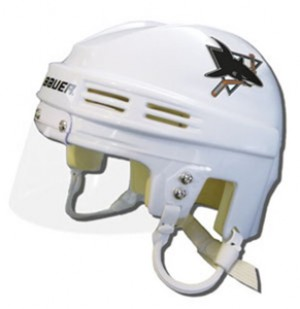 San Jose Sharks Away Authentic Mini Helmet