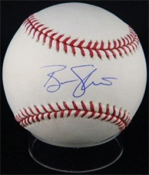 Ben Sheets Signed Rawlings Official Major League Baseball