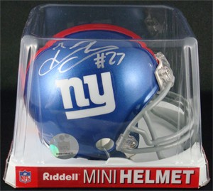 Brandon Jacobs Autographed New York Giants Replica Mini Helmet