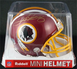 Clinton Portis Autographed Washington Redskins Replica Mini Helmet