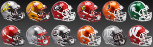 Limited Edition College Flash 2021 Riddell Full Size Authentic Speed Helmets