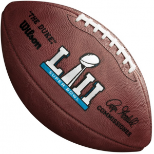 Wilson Super Bowl 52 NFL Roger Goodell The Duke Official Game Football