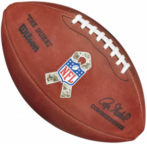 NFL Official Game Salute to Service Roger Goodell The Duke Wilson Full Size Authentic Football