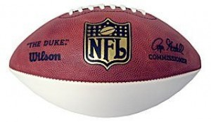 1 White Panel NFL Football